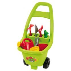 Ecoiffier Záhradný vozík s náradím, kvetináčmi a kanvičkou