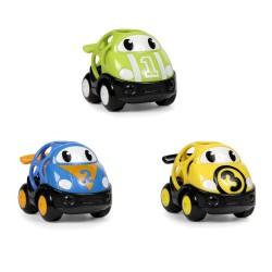 Oball Hračka autíčka pretekárske Herbie, Tom a Mike Oball Go Grippers™ 3ks, 18m+