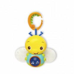 Bright Starts Hračka svietiacia včielka s melódiou na C-krúžku Beaming Buggie™ 0m+