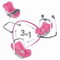 Smoby 3v1 Autosedačka a stolička Maxi Cosi pre bábiky