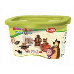 PlayBIG Bloxx Máša medveď Míšova izba 35 ks