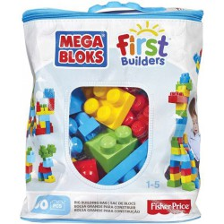 Mattel Mega Bloks First Builders Big Building bag Boys 60ks