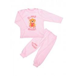 Antony Pyžamo Macko so srdcom - sladké sníčky - ružové