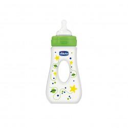 Chicco Fľaša bez BPA Well-Being silikónový cumlík rýchly prietok slza 240ml