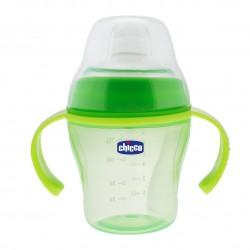 Chicco Fľaša učiaca s uškami Soft Cup, 6m+ - zelená