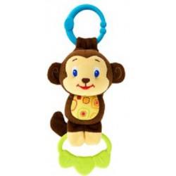 Bright Starts Hračka na C krúžku Tug Tunes s melódiou, 0m+ opica