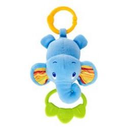 Bright Starts Hračka na C krúžku Tug Tunes s melódiou, 0m+ slon