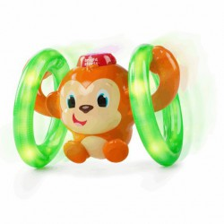 Bright Starts Hračka svietiaca hudobná opička LLB Roll & Glow™ 6-36m