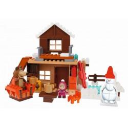 PlayBIG Bloxx Máša a medveď Míšův zimný dom
