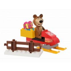PlayBIG Bloxx Máša medveď Míša so skútrom