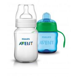 Avent fľaša 260ml Klasik+hrnček Klasik 200ml