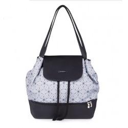 Taška prebaľovacia/batoh UPTOWN 2v1 čierna vzor