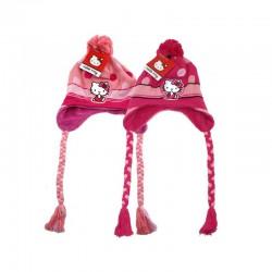 Zimná čiapka Hello Kitty s brmbolcom