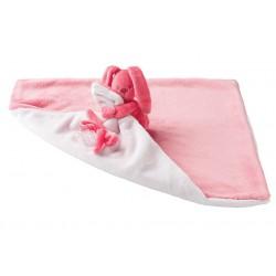 Nattou Deka plyšová s maznáčikom LAPIDOU light pink 48cm x 48cm