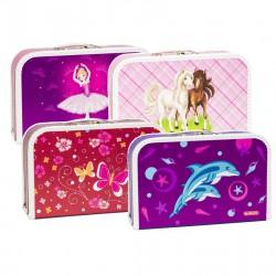 Kufrík 35cm, Dievčatá mix motívov/delfín, motýle, kone, balerína/