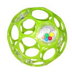 Hračka OBALL RATTLE 10 cm, 0m+ zelená