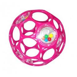 Hračka OBALL RATTLE 10 cm, 0m+ ružová