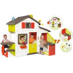 Smoby Domček Friends House s kuchynou a lavicou