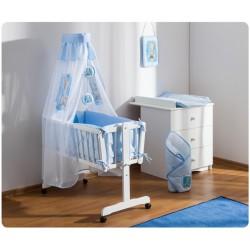 Drevená kolíska s plnou výbavou Sweet Dreams by Teddy modra