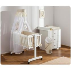 Drevená kolíska Sweet Dreams by Teddy pre novorodenca