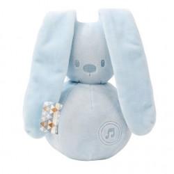 Hračka hudobná zajačik Lapidou light blue
