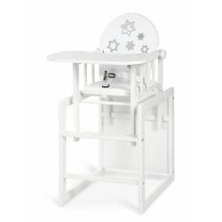 Jedálenský stolička Anežka III Hvezdičky biele