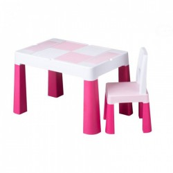 TEGA Sada nábytku pre deti Multifun - stolček a stolička ružová