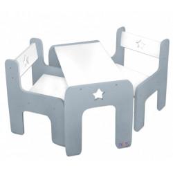 sada detského nábytku stôl + 2 x stoličky