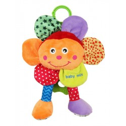 Plyšová hračka so zvukom Baby Mix Kvetinka