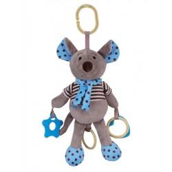 Plyšová hračka so zvukom Baby Mix Myška modrá