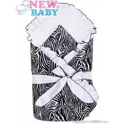 Zavinovačka s volánikom a mašľou New Baby Zebra bielo-čierna