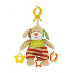 Plyšová hračka s hracím strojčekom Baby Mix Medvedík s kapucňou béžový