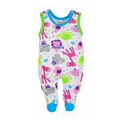 Dojčenské dupačky Bobas Fashion Zoo tyrkysové