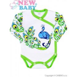 Dojčenské bavlnené dupačky New Baby z Luxusnej kolekcie Páv