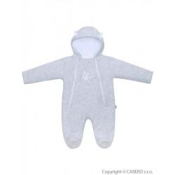 Zimná dojčenská kombinéza Baby Service Veverička svetlo sivá