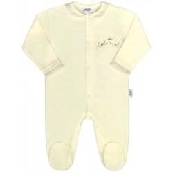 Dojčenský bavlnený overal New Baby Angel béžový