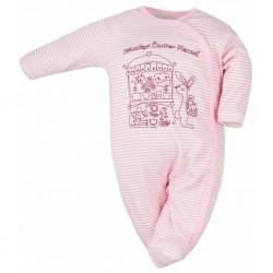 Dojčenský overal Bobas Fashion Mestečko ružový