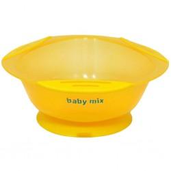 Detská protišmyková miska Baby Mix žltá