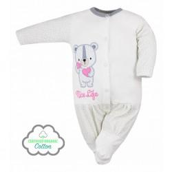 Dojčenský overal Koala Nice Life smotanovo-ružový