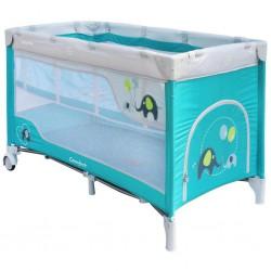 Detská cestovná postieľka Baby Mix Slony Blue