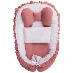 Hniezdočko s perinkou pre bábätko Belisima Angel Baby ružové