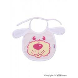 Detský podbradník New Baby bielo-ružový