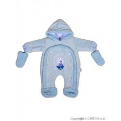 Detská kombinéza New Baby ježko modrá