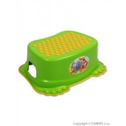 Detské protišmykové stúpadlo do kúpeľne zelene