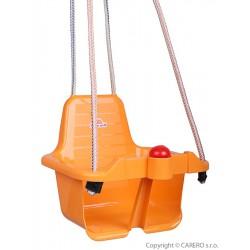 Hojdačka s pískatkom oranžová