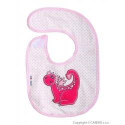 Detský podbradník Akuku s dráčikom - ružový