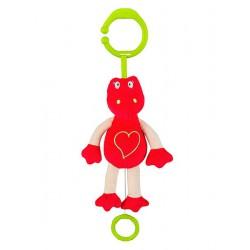 Plyšová hračka s hracím strojčekom Baby Ono Dráčik červený