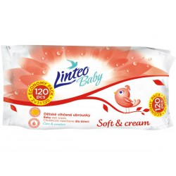 Vlhčené obrúsky Linteo Baby 120 ks Soft and cream