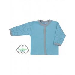 Dojčenský BIO kabátik Koala Malí Mackovia modrý