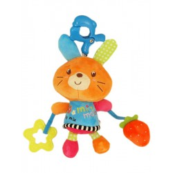 Plyšová hračka s hracím strojčekom Baby Mix Kraliček oranžový